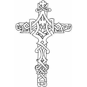 Cross9 coloring page for Adult coloring pages cross