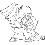 Jacob Struggles with the Angel