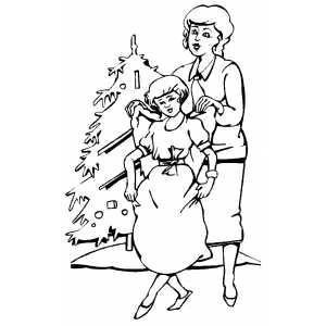 Girl in Angel Costume coloring page