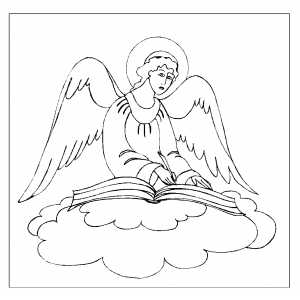 Angel And Book Of Life coloring page