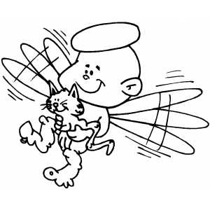 Angel And Kitten coloring page