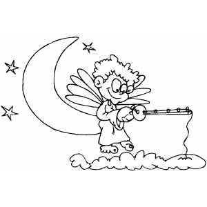 Angel Fishing coloring page