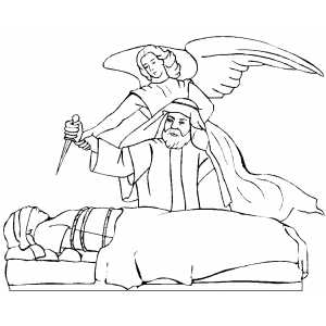 Angel With Abraham coloring page