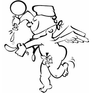 Doctor Cherub coloring page