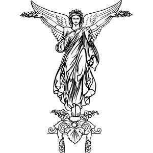 Elegant Angel coloring page