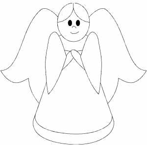 Little Girl Angel coloring page