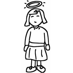 Standing Angel coloring page