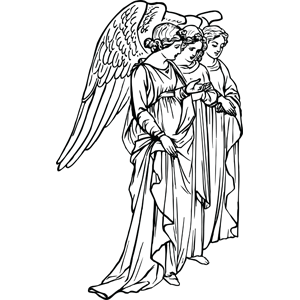 Three Angels coloring page