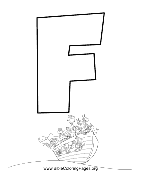Bible Alphabet F coloring page