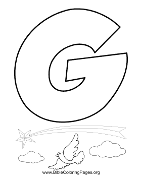 Bible Alphabet G coloring page