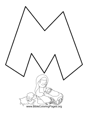 Bible Alphabet M coloring page