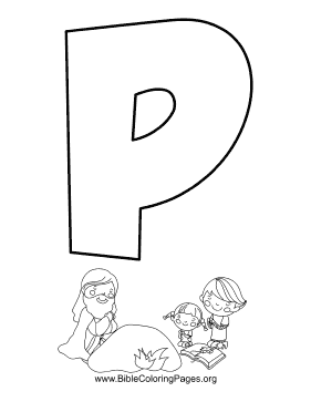 Bible Alphabet P coloring page
