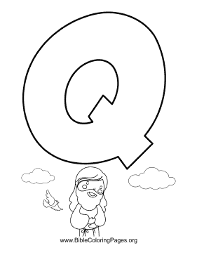 Bible Alphabet Q coloring page