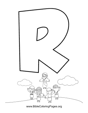 Bible Alphabet R coloring page