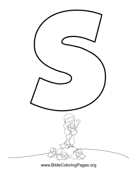 Bible Alphabet S coloring page