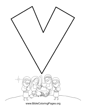 Bible Alphabet V coloring page