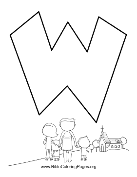 Bible Alphabet W coloring page