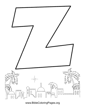 Bible Alphabet Z coloring page