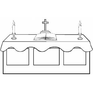 Altar coloring page