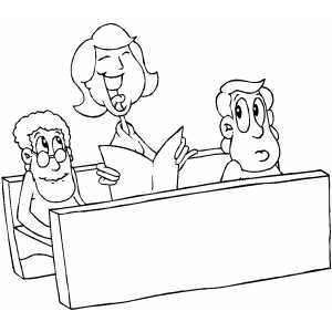 singing in church coloring page