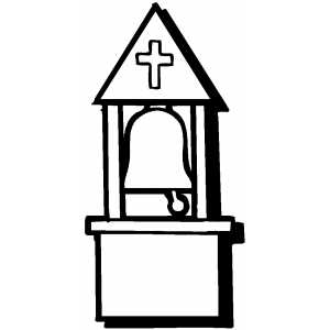 church bells coloring pages | Bell Tower Coloring Page