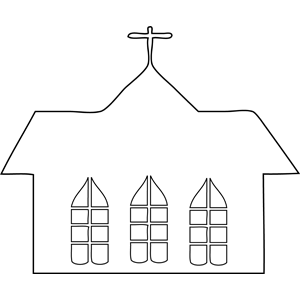 Church Building coloring page