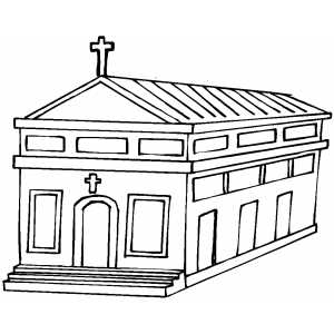 Church With Multiple Windows coloring page