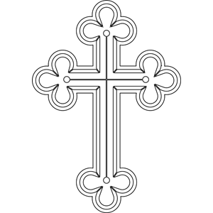Trefoil Cross coloring page