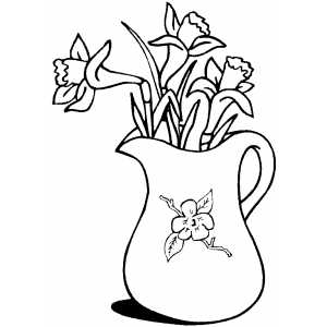 Lilies coloring page