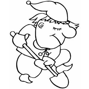 Digging Elf coloring page