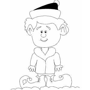 Elf Kid coloring page