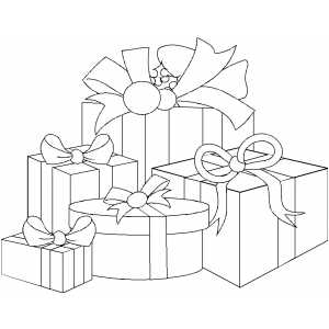Christmas Gifts coloring page