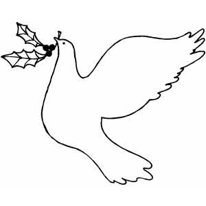 Dove With Berries coloring page