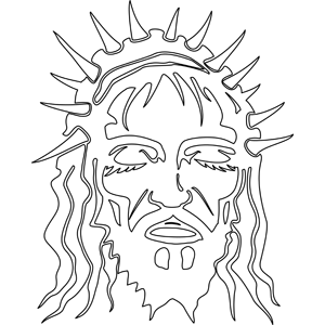 Christ with Crown of Thorns coloring page