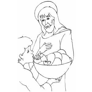 Jesus And Boy coloring page