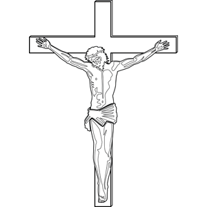 Jesus' Crucifixion coloring page