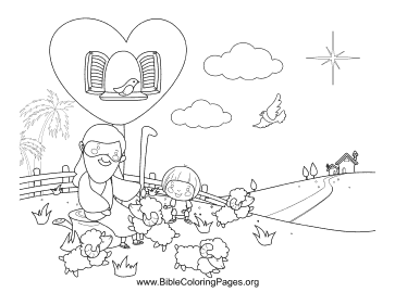 Jesus Sheep coloring page