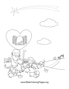 Jesus Sheep Vertical coloring page