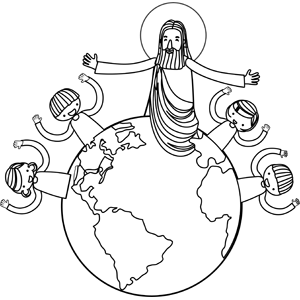 jesus with children coloring page - Jesus Children Coloring Pages