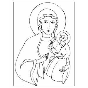 Madonna And Child coloring page