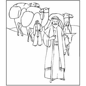 Abraham Leading People coloring page