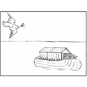 Dove Returning With Branch coloring page