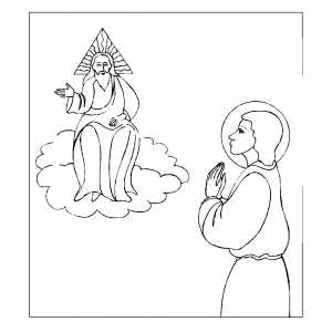 John And God coloring page