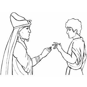 Joseph and pharaoh coloring pages coloring pages for Joseph king of dreams coloring pages