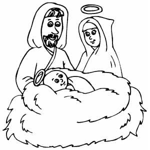 Manger coloring page