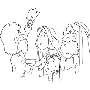 Moses Directs Marking of Doorways Before Passover coloring page