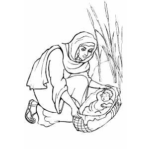 Moses Baby coloring page