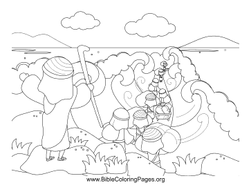 Moses parts red sea coloring page for Parting of the red sea coloring page