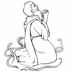 Moses Praying coloring page