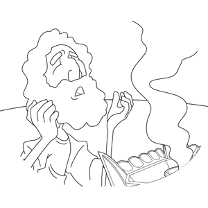 Moses Praying Before the Ark coloring page